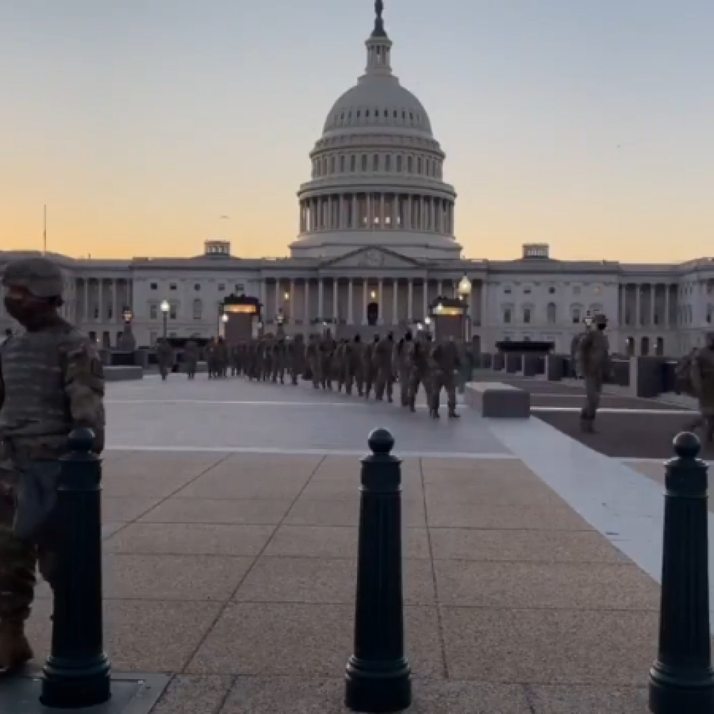 Capitol Revolt -- National Guards Keeping The Peace